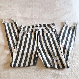 Zara | Striped Skinny Jeans
